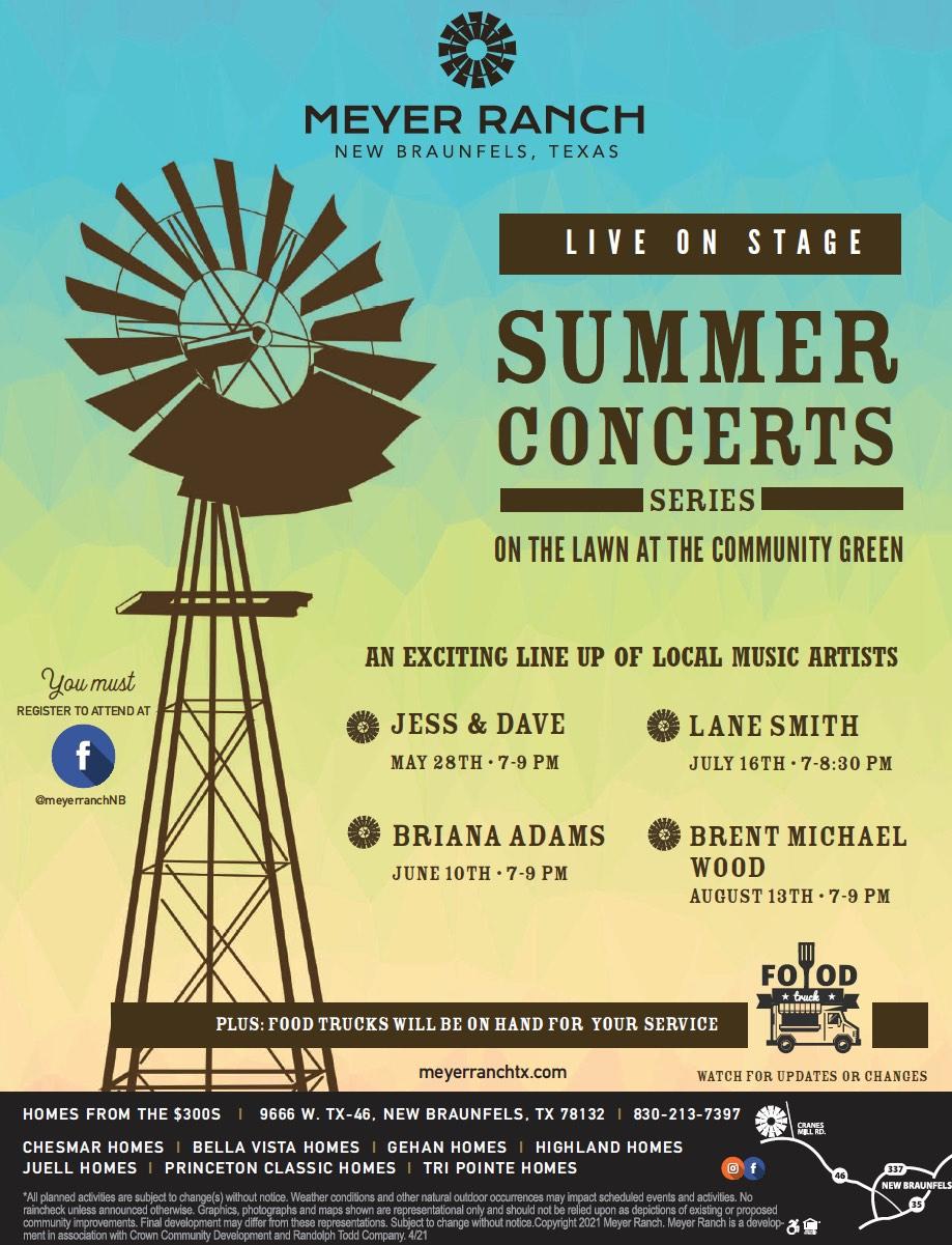 Meyer Ranch Summer Concerts 2021
