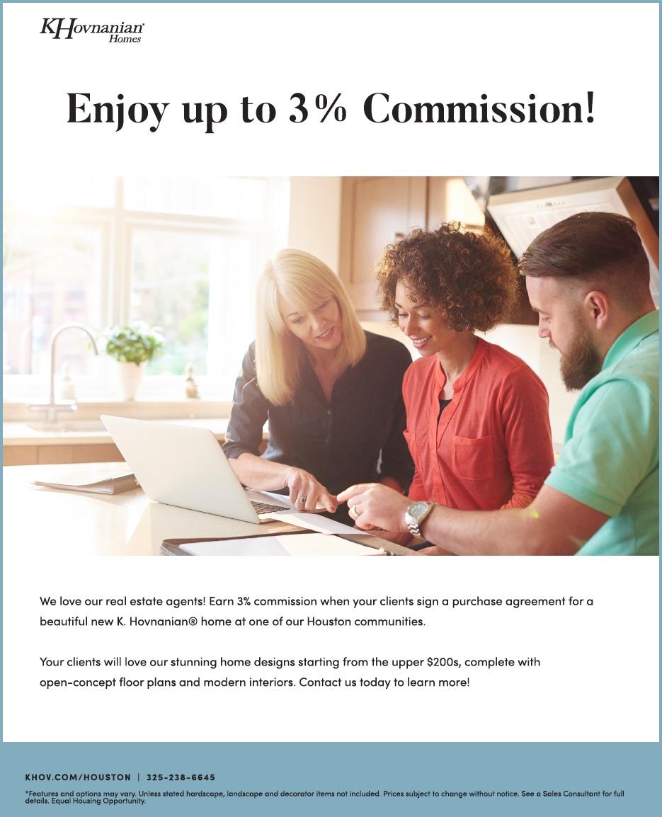 K. Hovnanian® Homes 4% commission